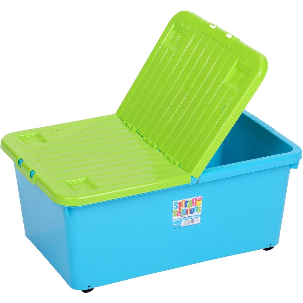 e65eab873 Box so sklápacím vekom 45l modrý WHAM