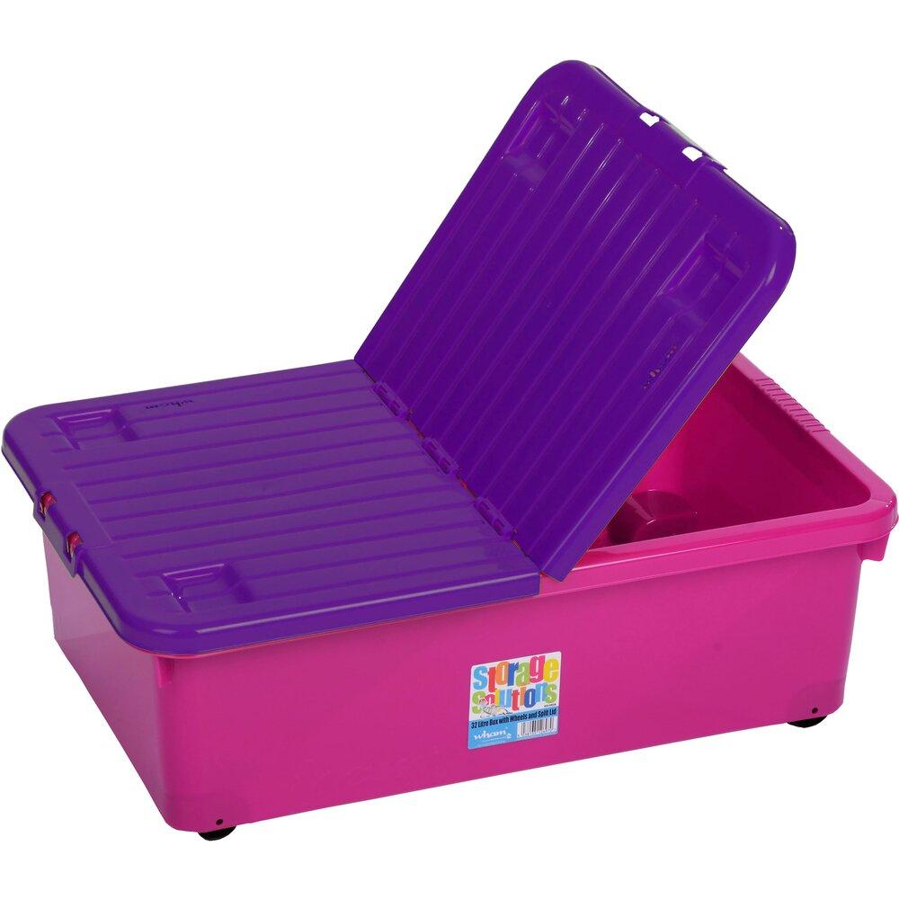 01629671f Box so sklápacím vekom 32l ružový WHAM